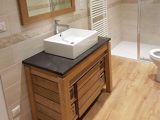Installation de meuble de salle de bain à Beauvais